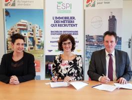 Signature de la convention de partenariat avec l'ESPI Ecole Supérieure des Professions Immobilières