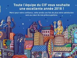 Le Groupe CIF vous souhaite une excellente année 2018 !